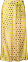 Cotélac - pleated skirt - women - Cotton/Polyester - 2