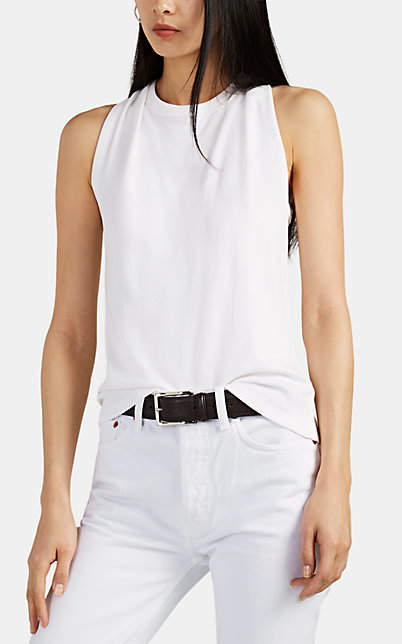 Helmut Lang Women's Twisted Cotton Tank - White