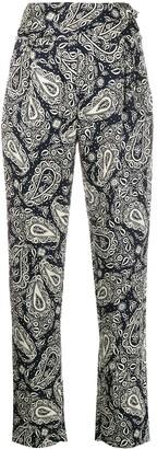 BLAZÉ MILANO Paisley High Waisted Trousers