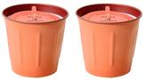 Retro Kitchen Peach and Thai Basil Candles (8 OZ) (Set of 2)