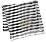 Michael Kors Sophia Striped Voile Logo Scarf