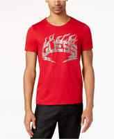 GUESS Men's Rockstar Metallic Logo-Print T-Shirt