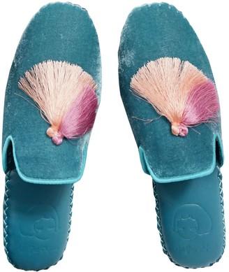 Not Just Pajama Womens Classic Handmade Slipper - Blue