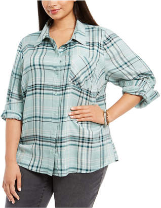 Style&Co. Style & Co Plus Size Plaid Utility Shirt