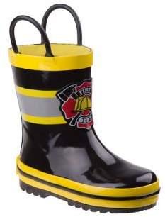 Joseph Allen Rugged Bear Boy's and Little Boy's Fireman Rubber Rain Boots