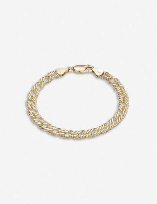 Rachel Jackson Double Curb Chevron 22ct gold-plated sterling silver bracelet