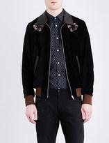 Diesel J-Varadero velvet and leather jacket
