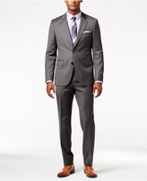 HUGO BOSS Gray Mini-Houndstooth Extra Slim-Fit Suit