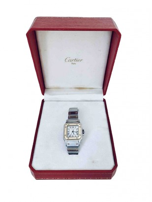 Cartier Santos GalbAe Silver gold and steel Watches