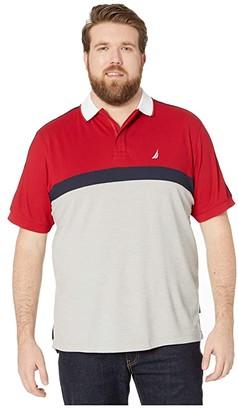 Nautica Big Tall Navtech Tape Polo (Navy) Men's Short Sleeve Pullover