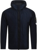Stone Island Hooded Micro Reps Down Jacket Blue