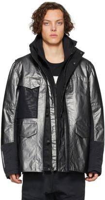Nike Silver and Black Sportswear Tech Pack Jacket