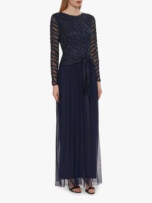 Gina Bacconi Zevvi Sequin Embellished Maxi Dress, Navy