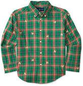 Ralph Lauren Plaid Embroidered Cotton Shirt