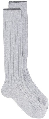 Brunello Cucinelli Ribbed High Socks