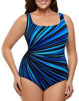 Longitude Plus Zenon Striped One-Piece Swimsuit