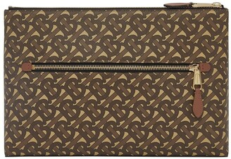 Burberry Monogram Print Clutch