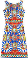 Dolce & Gabbana Printed Silk Sheath Dress