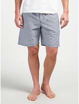 John Lewis Stripe Cotton Lounge Shorts, Grey