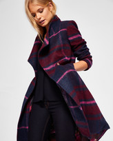 Ted Baker Check long wrap coat
