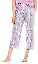 Karen Neuburger Mixed-Striped Capri Sleep Pants
