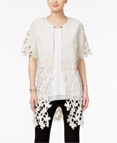 Chelsea and Theodore Sheer-Hem Lace Jacket
