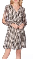 Tahari Women's Print Faux Wrap Dress