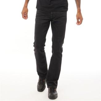 Diesel Mens Zatiny R4Q80 Regular Bootcut Fit Jeans Black