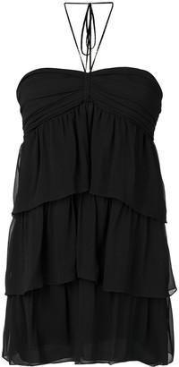 Saint Laurent short tiered dress