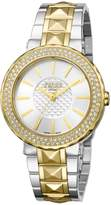 Ferré Milano Women's FM1L058M0101 Silver Dial With Two Toned Stainless-Steel Band Watch.