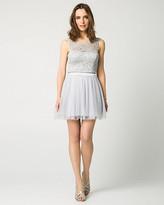 Le Château Lace & Mesh Two-Piece Party Dress