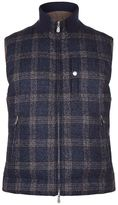 Brunello Cucinelli Reversible Quilted Checked Gilet