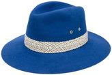 Maison Michel contrast trim hat - women - Rabbit Fur Felt - M