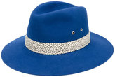 Maison Michel contrast trim hat - women - Rabbit Fur Felt - S