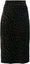 Odeeh leopard pencil skirt - women - Cotton/Polyamide/Viscose - 34