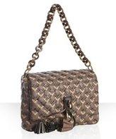 light brown diamond quilted leather 'Jennifer' shoulder bag