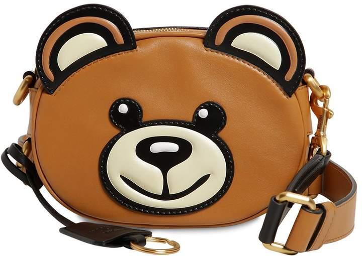 Moschino Teddy Bear Leather Shoulder Bag