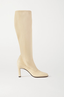 Wandler Lesly Leather Knee Boots - Off-white