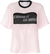 Au Jour Le Jour lace patch T-shirt