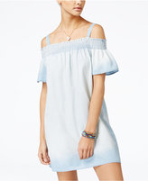 As U Wish Juniors' Off-The-Shoulder Shift Dress