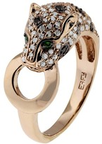 Effy Jewelry Signature Rose Gold Diamond and Emerald Ring, .66 TCW