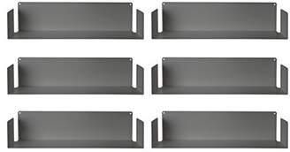 Christian Dior Teebooks - Set of 6 Wall Shelves, Steel, Grey, 60 x 15 x 15 cm