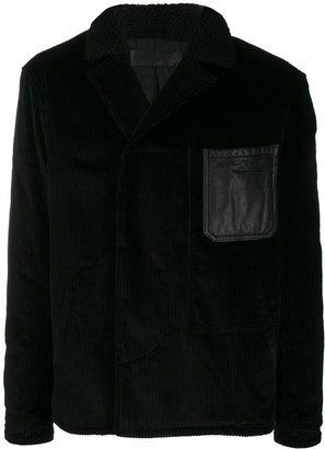 Haider Ackermann Leather Patch Shirt Jacket