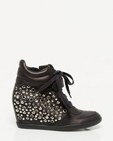 Le Château Studded Leather Wedge Sneaker