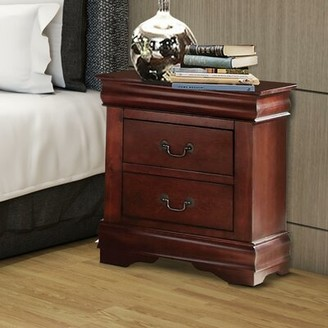 Kyles Wooden 2 Drawer Nightstand Charlton Home Color: Brown
