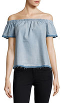True Religion Chambray Off-the-Shoulder Top