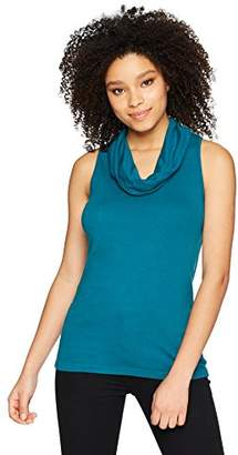 Three Dots Women's Heritage Knit Short Tight Cowl Neck Tank