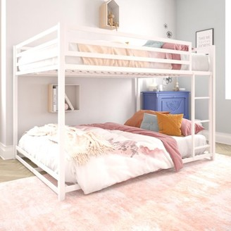 DHP Miles Metal Full Over Full Bunk Bed, Furniture for Kids, White