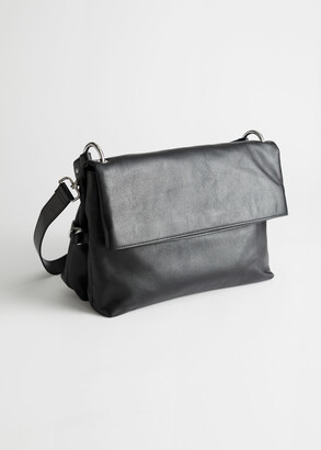 And other stories Slouchy Flap Closure Leather Bag