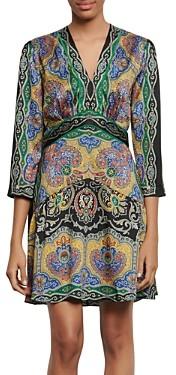 Sandro Rayan Short Printed Dress